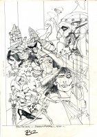Doom Patrol 44 cover prelim Issue 44 Comic Art