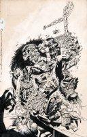 Monster Massacre Page Cover Comic Art