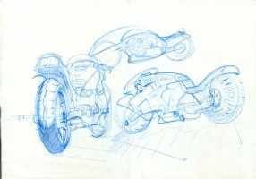 Motorcycle sketches! Comic Art