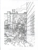Tincan Man Issue 1 Page Variant Cover Comic Art