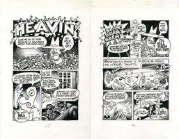 Heavin' - 2 page Steven Parody Comic Art