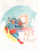 Acme Novelty #8 - unpublished COVER Comic Art
