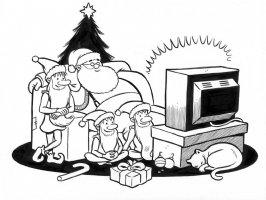 Christmas card art from JOE MATT Comic Art