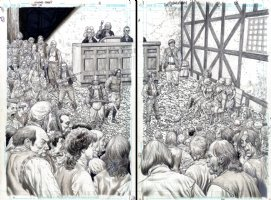 Lot 13 - double page splash Issue 1 Page 2-3 Comic Art