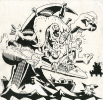 Big Daddy Roth tribute Comic Art