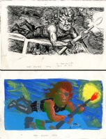 Escape From LA - New Yorker Illo Comic Art