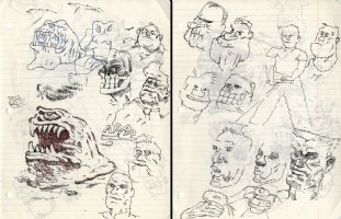 sketches #1 - two sided art ! Comic Art