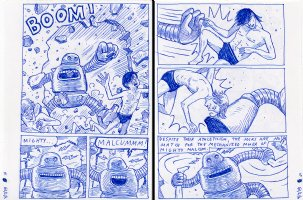 Sulk - Robot - 2 pages! w/ 2/3 splash Issue 3 Comic Art