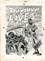 Trashman Lives Page Back Cover Comic Art