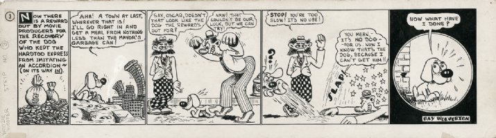 Woozie Woofer - 1930's Try Out Strip Comic Art