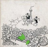 Pim & Francie: Salmon Falls - Unfinished Illustration Comic Art