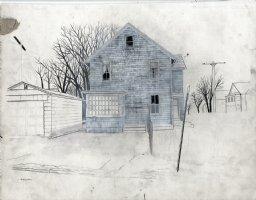 Grey House - Painting Comic Art