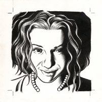 Ani DiFranco - The Believer Cover Portrait Comic Art