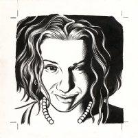 Ani DiFranco - The Believer Cover Portrait Comic Art