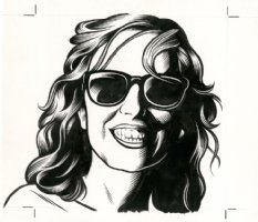 Julie Hecht - The Believer Cover Portrait Comic Art