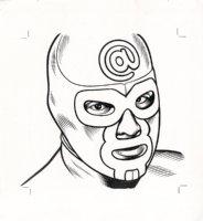 x- Luchador - The Believer Cover Portrait Comic Art