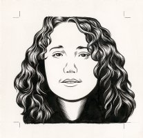 Lauren Weinstein - The Believer Cover Portrait Comic Art