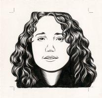 Lauren Weinstein - The Believer Cover Portrait Comic Art