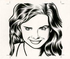 Milana Runjić - The Believer Cover Portrait Comic Art