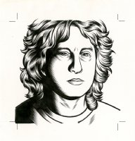 Steve Ericson - The Believer Cover Portrait Comic Art