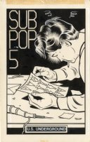 Sub Pop Cassette Zine Issue 5 Page Cover Comic Art