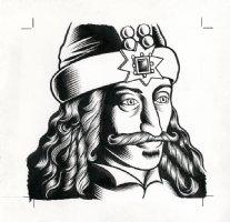 x- Vlad Tepes (Dracula) - The Believer Cover Portrait Comic Art