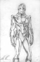 Iron Man - pencil drawing Comic Art