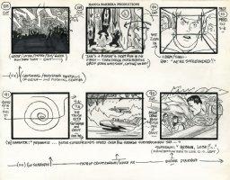 Super Friends - storyboard -  Superman, Batman and The Wonder Twins! Comic Art