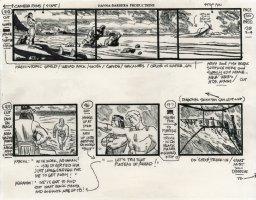 Super Friends - storyboard -  Aquaman and Apache Chief Comic Art