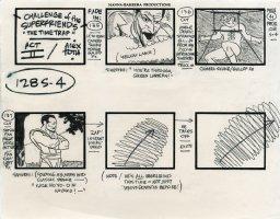 Super Friends - storyboard -  Sinestro, Green Lantern and Samurai Comic Art