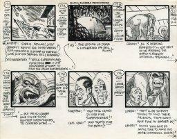 Super Friends - storyboard -  Superman and The Legion Of Doom Comic Art