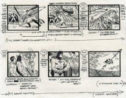 Super Friends - storyboard -  Superman, Batman and Robin Comic Art