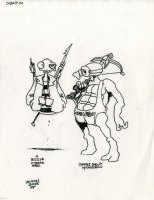 Cobalt 60 Character Design - BIG EYE (w/Spear Rifle) And GOGGLE SNOUT (w/Crossbow) Comic Art