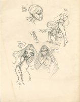 z-Page Of Character Designs Comic Art