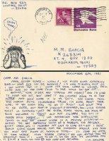 Postcard To Cartoonist Macedonio Garcia + Related Ephemera Comic Art