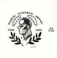 Barack Hussein Obama Page Cover Prelim Comic Art