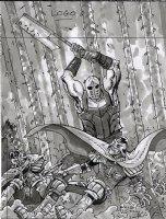 2000 AD - Judge Dredd Issue Prog. 1975 Page Cover Rough Comic Art