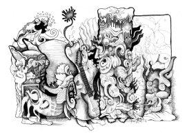 84 Drawings - An Arcane Presentation Comic Art