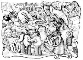 84 Drawings - The Artist Draws Comic Art