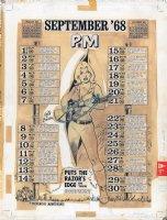 Preventative Maintenance Monthly - Calendar - September 1968 Comic Art