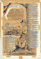 Preventative Maintenance Monthly - Calendar - February 1971 Comic Art