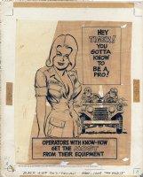 Preventative Maintenance Monthly - Poster Art - 1973 Comic Art