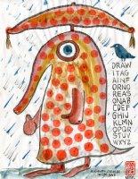 A Gaudy Creature In The Rain Comic Art