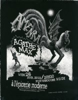 Amenra/Agathe Max - Concert Flyer Comic Art