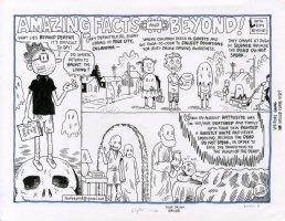 Amazing Facts & Beyond - Leon Beyond Title page Comic Art