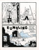Or Else - Rumbling Title Page Issue 5 Comic Art