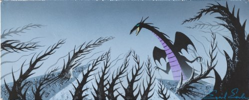 Sleeping Beauty - Maleficent as the Dragon - Color Key/Concept Painting Comic Art
