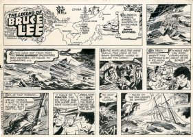 The Legend Of Bruce Lee - Sunday Strip - 12/19/1982 Comic Art