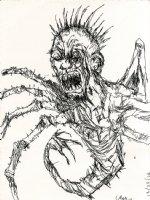 Spider Creature Comic Art