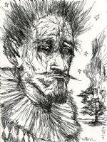 Portrait Of A Man Comic Art